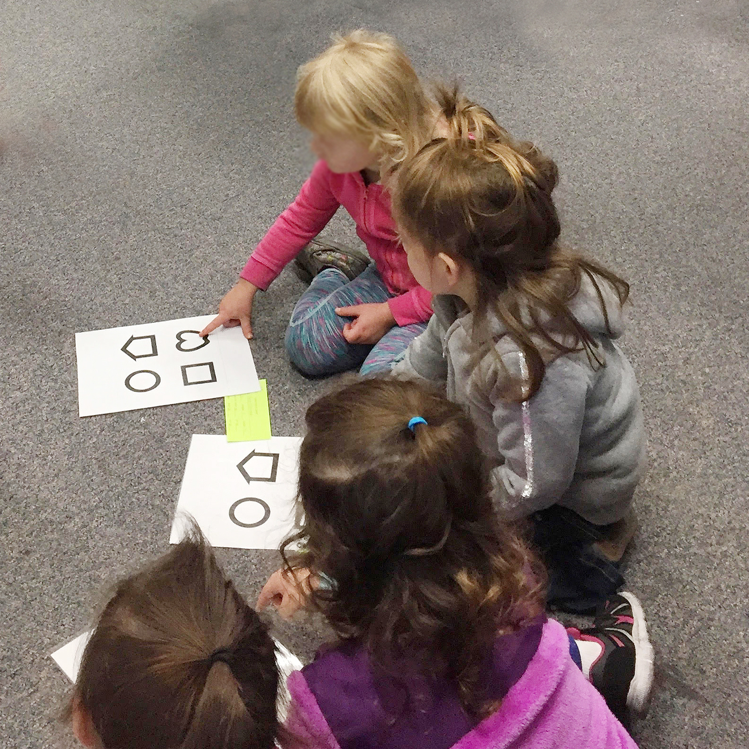 Children with vision cards