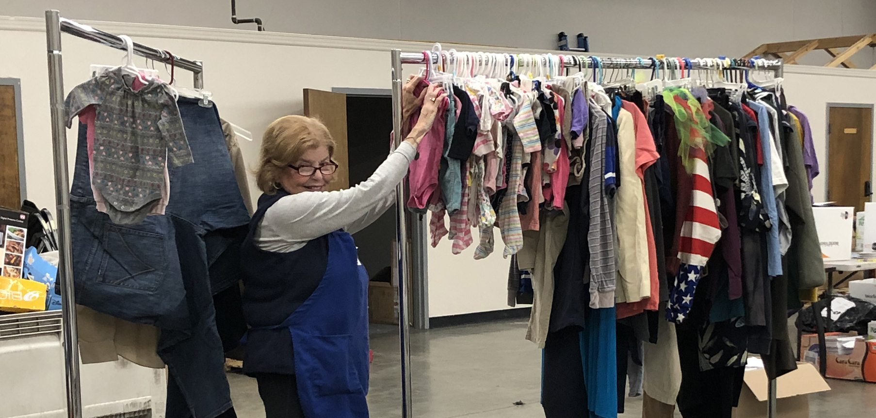 Assist-a-Shelter CityTeam sorting clothes