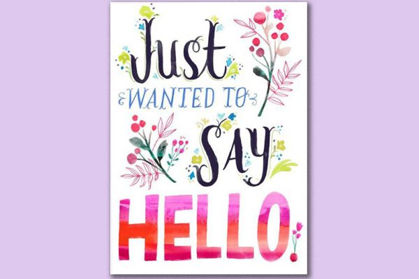 Just say hello graphic