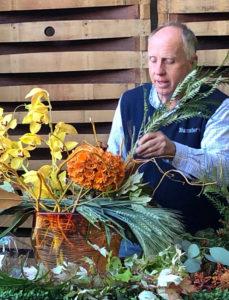 Creating Floral Arrangement
