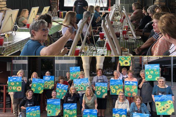 Fundraiser - painting sunflowers