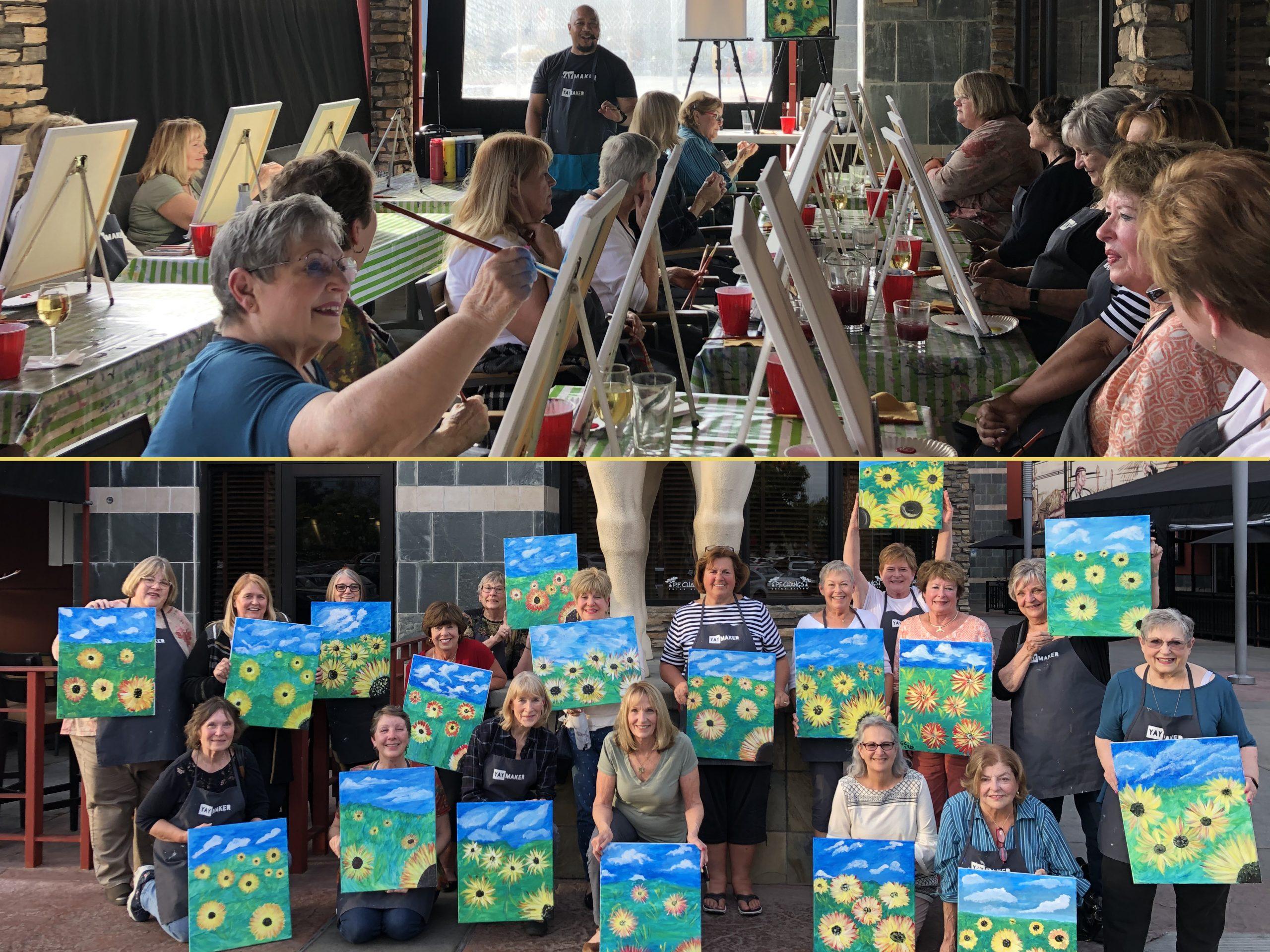 Painting Sunflowers fundraiser