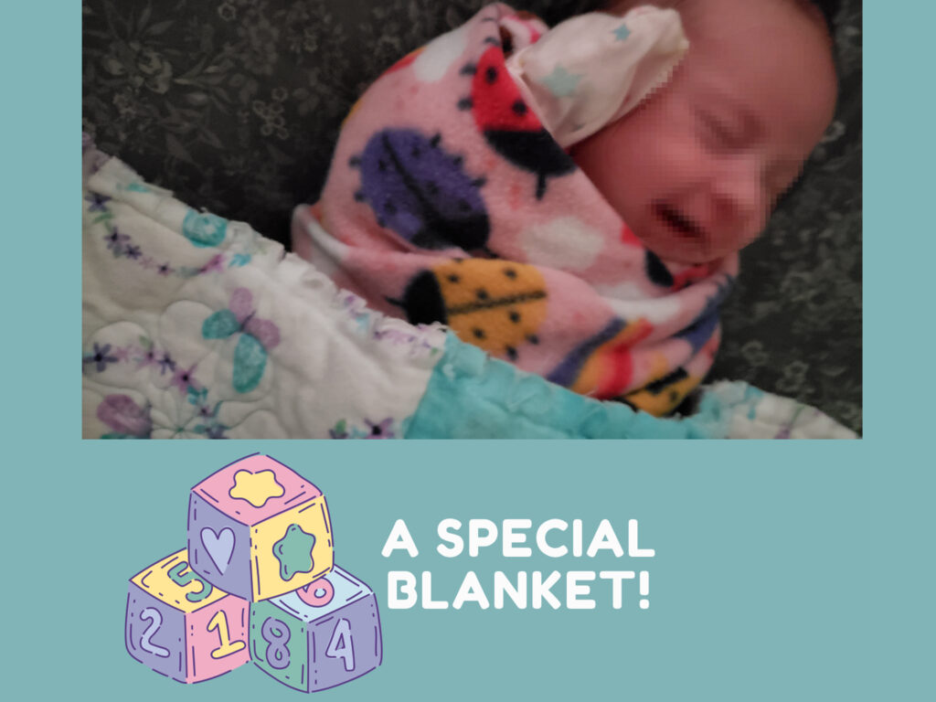 Baby in Caring Hands Blanket