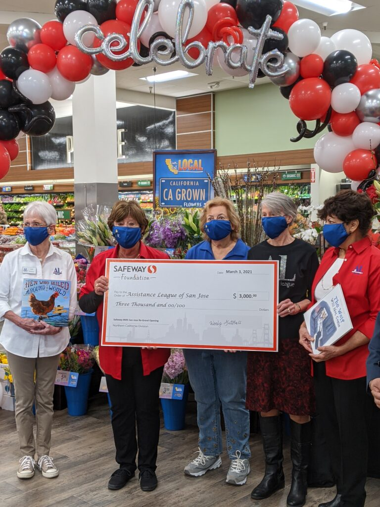 Receiving a big check from Safeway