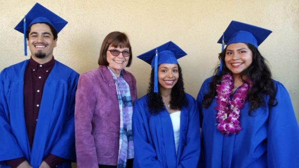 2018 06 06 Olympic scholarships, Gabriel Castillo, Joyce Landsverk, Erica Hernandez, Breeanna Cruz