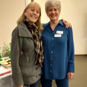 2019 Feb 27th, Carole Miller, Circle Pin award presented by Julie Quinn