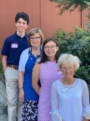 (L>R)  Logan Barth, Mary Helen Fischer, Sara Ambrose, Gail Carruthers