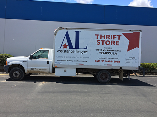 Call (951) 694-8018 to schedule pick-up of large items such as furniture. Pick-ups are scheduled on Mondays.