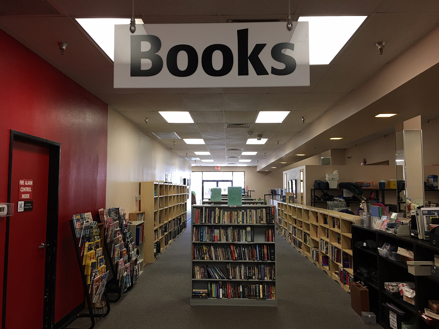 Many Choices Of Titles And Magazines In Our Book Department