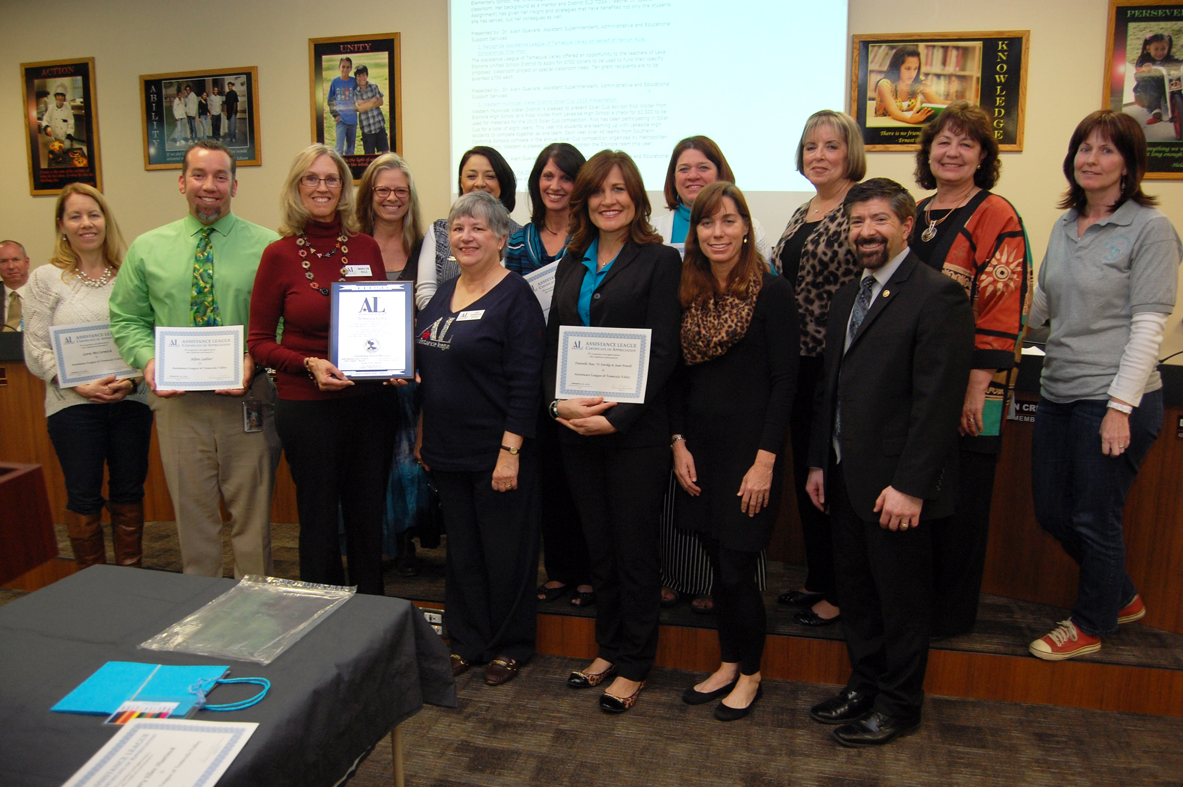 Lake Elsinore Unified School District teacher grants awarded for their classroom projects.