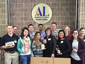 Seen in photo above, Peer & Fehrs employee volunteers (row1, l to r) Diwu Zhou, Kevin Johnson, Clara Wong, Chelsea Caldetera (team leader), Jane Bierstedt, Lorna Angeles, Delia Votsch; row 2, l to r) Jennifer Zierbarth, Jack Zhang, Abhishek Mishra, Ryan McClain, Meghan Mitman and Julie Morgan brightened Thanksgiving for families in crisis by assembling and boxing food for 60 families in our community.